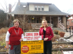 Joan & Rochelle in front of listed house - Realtors with senior certification